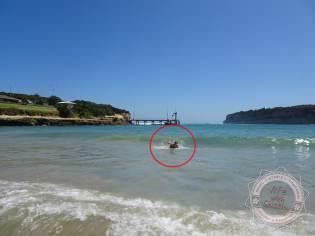 im roten Kreis die beiden Freaks, dass sind Pia und ich :D